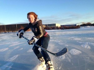 Casey Showing Off Her Pre-Concussion Hockey Skills