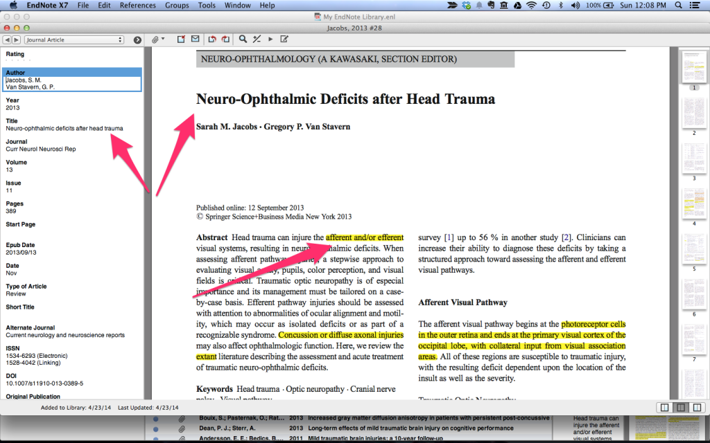 EndNote Screenshot Skitch