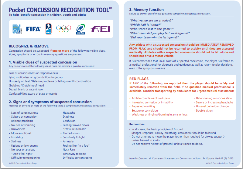 FIFA Concussion Guidelines