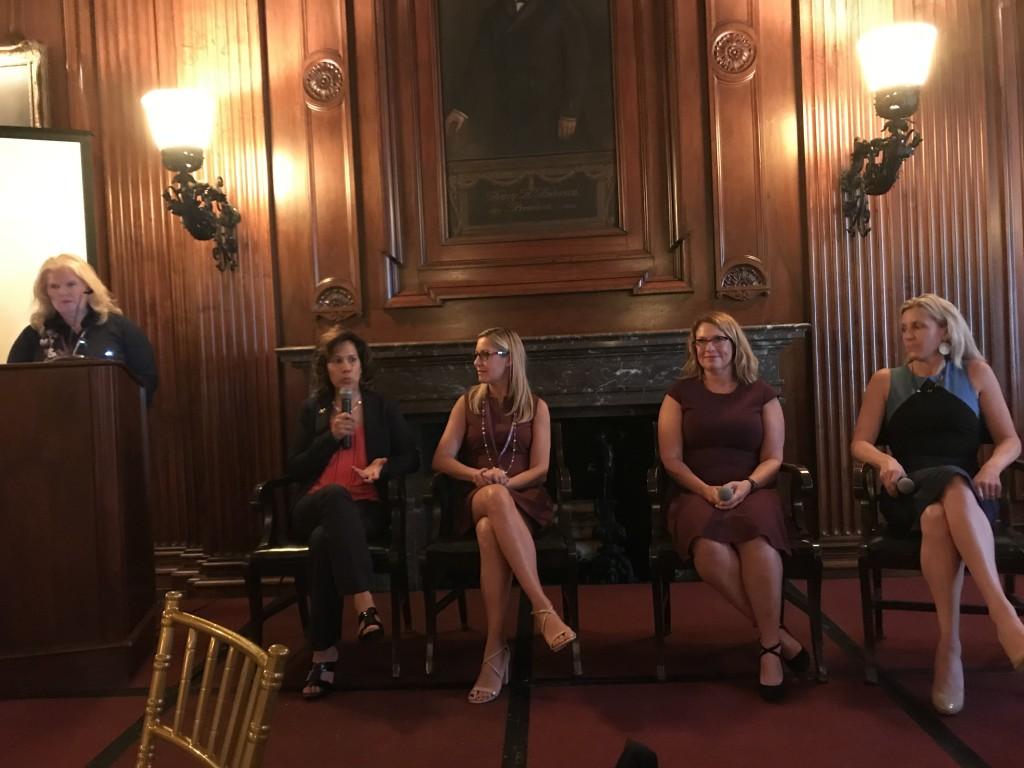 Power Panel Eva Norman, Amy Stein, Sandra Norby, and Michelle Collie bringing humor and incredible energy to the #WomenInPT Summit