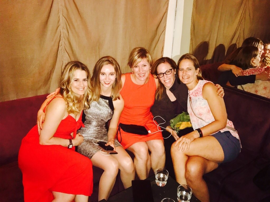 Karen Litzy, Steph Wayrauch, Secli DeStefano, Julie Wiebe. and Carrie Pagliano post #WomenInPT Summit celebrations at ilili in New York City